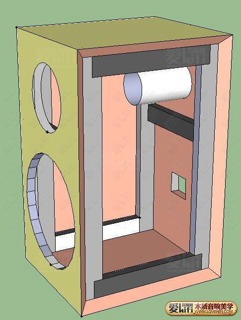 求索威10寸同轴 佳讯球顶中音书架式音箱设计图图片