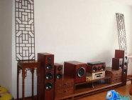 BT-audio玫瑰红红木影院和红木家具的视觉冲击